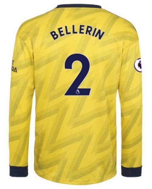 2019 2020 Arsenal Hector Bellerin 2 Long Sleeve Away Soccer Jersey Team Soccer Jerseys